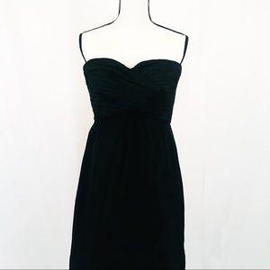• J. Crew Classic Black Strapless Dress Size 14 •